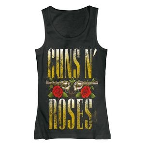 Metallic Gold Guns N' Roses Graphic Tank - Med